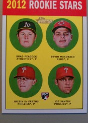 2012 Topps Heritage Card #29 Base Rookie Stars