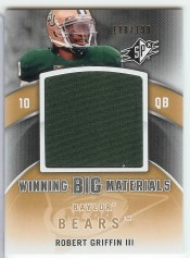 2012 Upper Deck SPx Robert Griffin III Big Materials