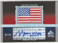2012 Upper Deck Sp Signature Maury Wills Auto