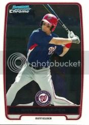 2012 Bowman Chrome Bryce Harper BCP10 Card