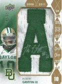 2012 Upper Deck Robert Griffin III Autograph Letterman 'A'