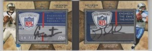 2011 Topps 5 Five Star Cam Newton - Jake Locker Laundry Tag