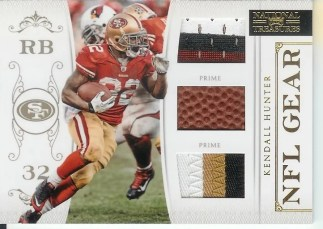 2011 Panini National Treasures Kendall Hunter NFL Gear Prime Jersey Football Patch Card