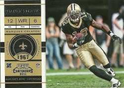 2011 Panini Contenders Marques Colston Base Card