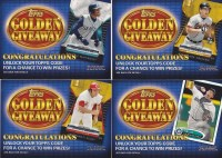 2012 Topps Series 2 Golden Giveaway Card Code