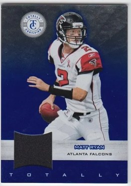 2011 Panini Totally Certified Blue Material Matt Ryan Jersey Card