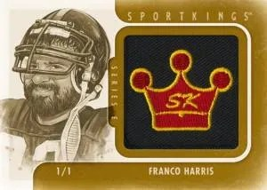 2012 Sportkings Series E Logo Card Franco Harris