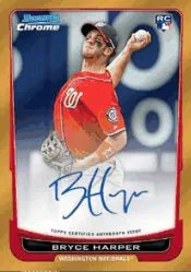 2012 Bowman Draft Picks Bryce Harper Autograph Orange