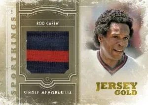 2012 Sportkings Series E Rod Carew Single Memorabilia Jersey Card
