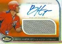 2012 Topps Finest Bryce Harper Orange Auto