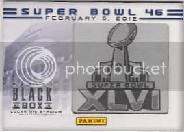 2012 Panini Black Box - Super Bowl 46 Card