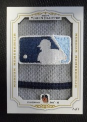 2012 Topps Museum Collection Evan Longoria 1/1 MLB Logoman