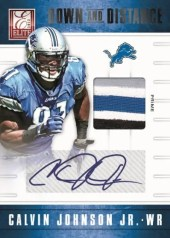 2012 Panini Elite Down & Distance Calvin Johnson Autograph
