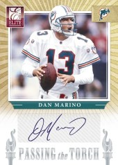 2012 Donruss Elite Dan Marino Passing the Torch