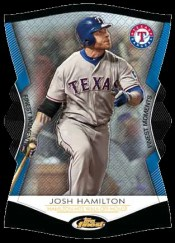 2012 Topps Finest Josh Hamilton Finest Moments Insert Card