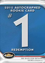 2012 Topps Finest Autograph Rookie Redemption Card #1