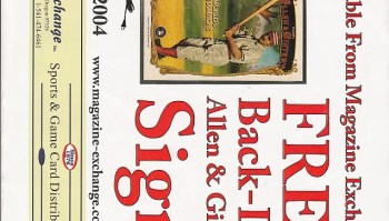 2012 Topps Allen & Ginter Dealer Back Lit Ginter Sign