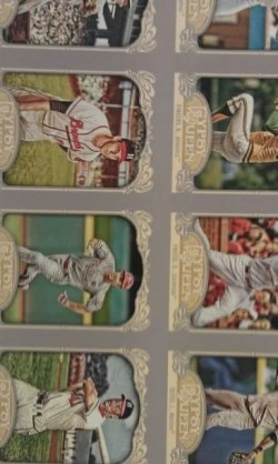 2012 Topps Gypsy Queen Base Cards Un-Cut