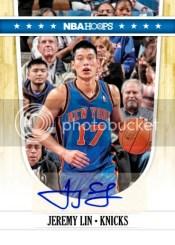 2011-12 Panini Hoops Jeremy Lin Autograph Knicks