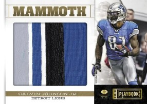 2011 Panini Playbook Mammoth Materials Calvin Johnson Jr. Jersey Card