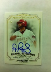 2012 Topps Museum Collection Albert Pujols Autograph