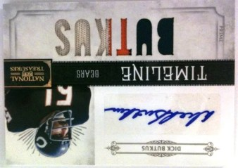 2011 Panini National Treasures Timeline Dick Butkus Prime Jersey Autograph Card
