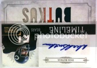 2011 Panini National Treasures Timeline Dick Butkus Prime Jersey Autograph Card
