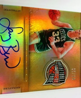 2011/12 Panini Gold Standard Marks of the Hall Larry Bird Autograph #/10
