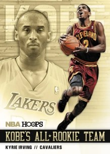 2011-12 Panini NBA Hoops Kobe's All Rookie Team Kyrie Irving Card