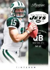 2012 Panini Prestige Tim Tebow Base Card