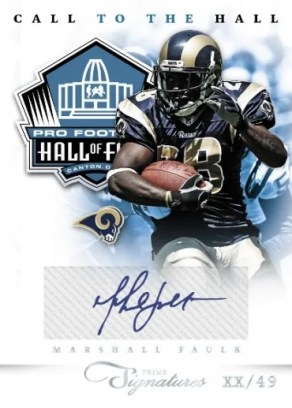 2011 Panini Prime Signatures Call To The Hall Marshall Faulk Autograph Card