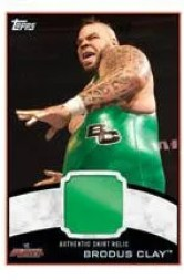 2012 Topps Brodus Clay Shirt Relic WWE Card
