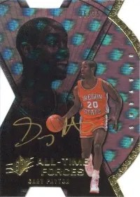 2013 Upper Deck All-Time Greats Gary Payton Forces Autograph