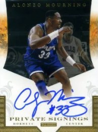 12/13 Panini Absolute Private Signings Alonzo Mourning