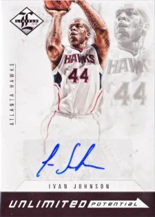 12/13 Panini Limited Unlimited Potetial Ivan Johnson Autograph Card