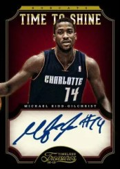 2012/13 Panini Timeless Treasures Time To Shine Michael Kidd-Gilchrist Autograph Card