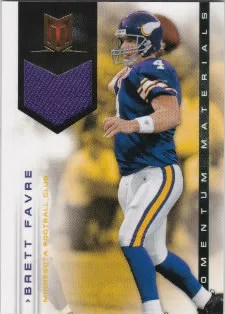 2012 Panini Momentum Football Brett Favre Jersey Card #182/199