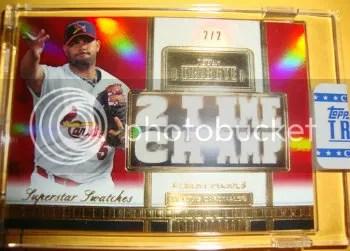 2012 Topps Tribute Baseball Super Star Swatches Albert Pujols #2/2