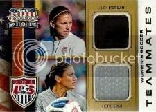 2012 Panini Americana Soccer Dual Jersey 1 Alex Morgan - Hope Solo