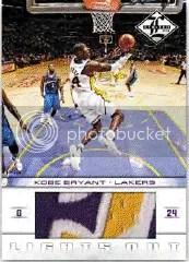 2012-13 Panini Limited Lights Out Kobe Bryant Jersey Card