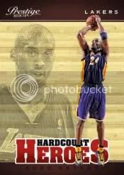 2012-13 Panini Prestige Hardcourt Heroes Kobe Bryant Insert Card