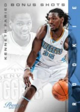 2012-13 Panini Prestige Kenneth Faried RC Card