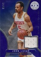 2012-13 Panini totally Certified Blue John Lucas Jersey Card