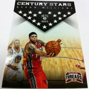 2012-13 panini Threads Deron Williams Century Stars Insert Card