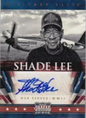 2012 Panini Americana Military Elite Autograph Shade Lee