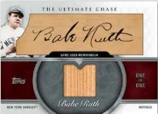 2013 Topps Series 1 Babe Ruth Cut Autograph Relic Card #1/1