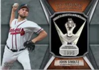 2013 Topps Series 1 John Smoltz Cy Young Award Winner Relic