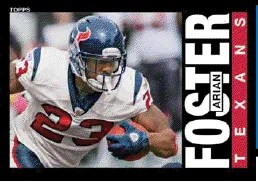 2013 Topps Archives Arian Foster Base Card