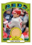 2013 Topps Series 1 1972 Mini Joey Votto Bat Relic Card