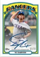 2013 Topps Series 1 1972 Mini Yu Darvish Autograph Card
